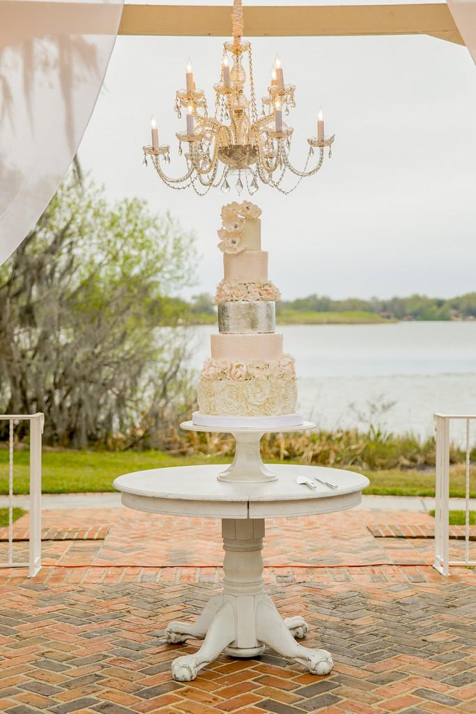 Cypress Grove Estate House Wedding Reception Cake