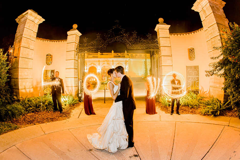 Ringling Museum Wedding Flame Pictures