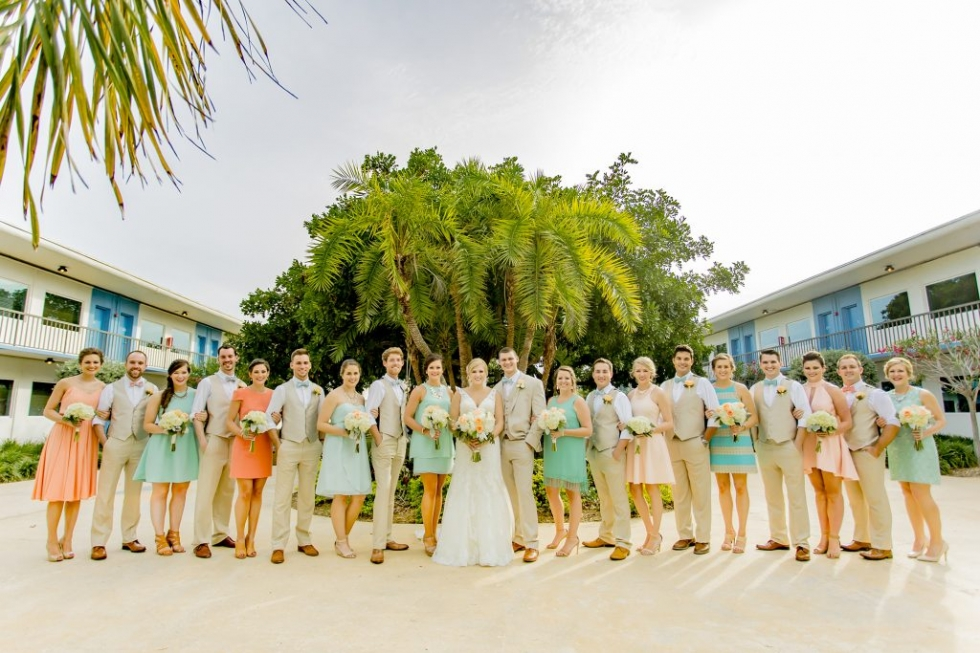 Postcard Inn St. Pete Beach Wedding Party Picture